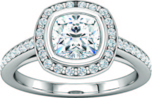 Halo-Style Semi Mount Engagement Ring Mollys jewelry design and repair