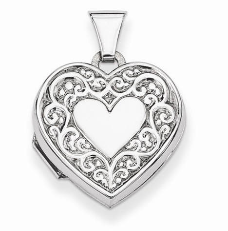 Heart Locket Sterling Silver Molly's jewelry design and repair