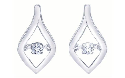 Heartbeat diamond shaped earrings molly's jewelry design and repair