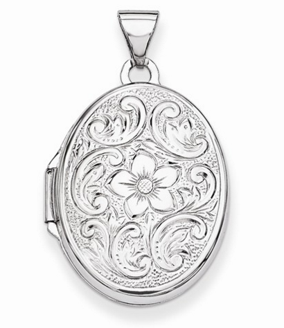 Oval Floral Locket Pendant Molly's Jewelry Design and Repair
