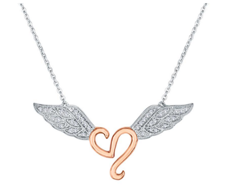 STEAL HER HEART WINGS NECKLACE STERLING SILVER