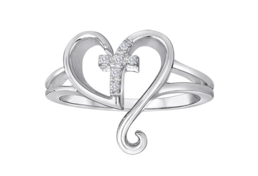 Steal Her Heart Cross Diamond Ring Molly's Jewelry Design and Repair