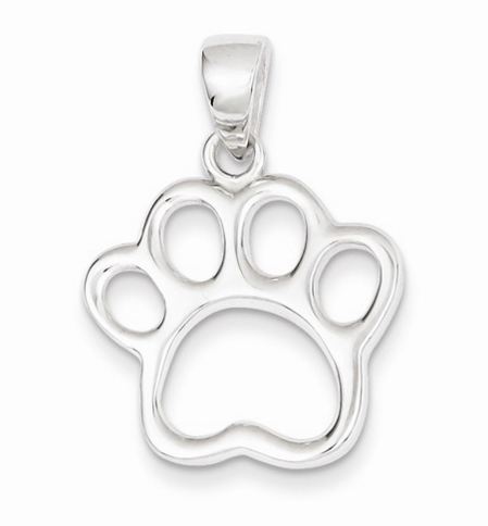 Sterling Silver Paw Print Molly's JEwelry design adn repair
