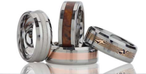 mens rings tungston molly's jewelry design and repair